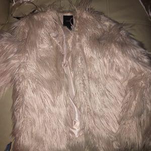 Shaggy fur coat
